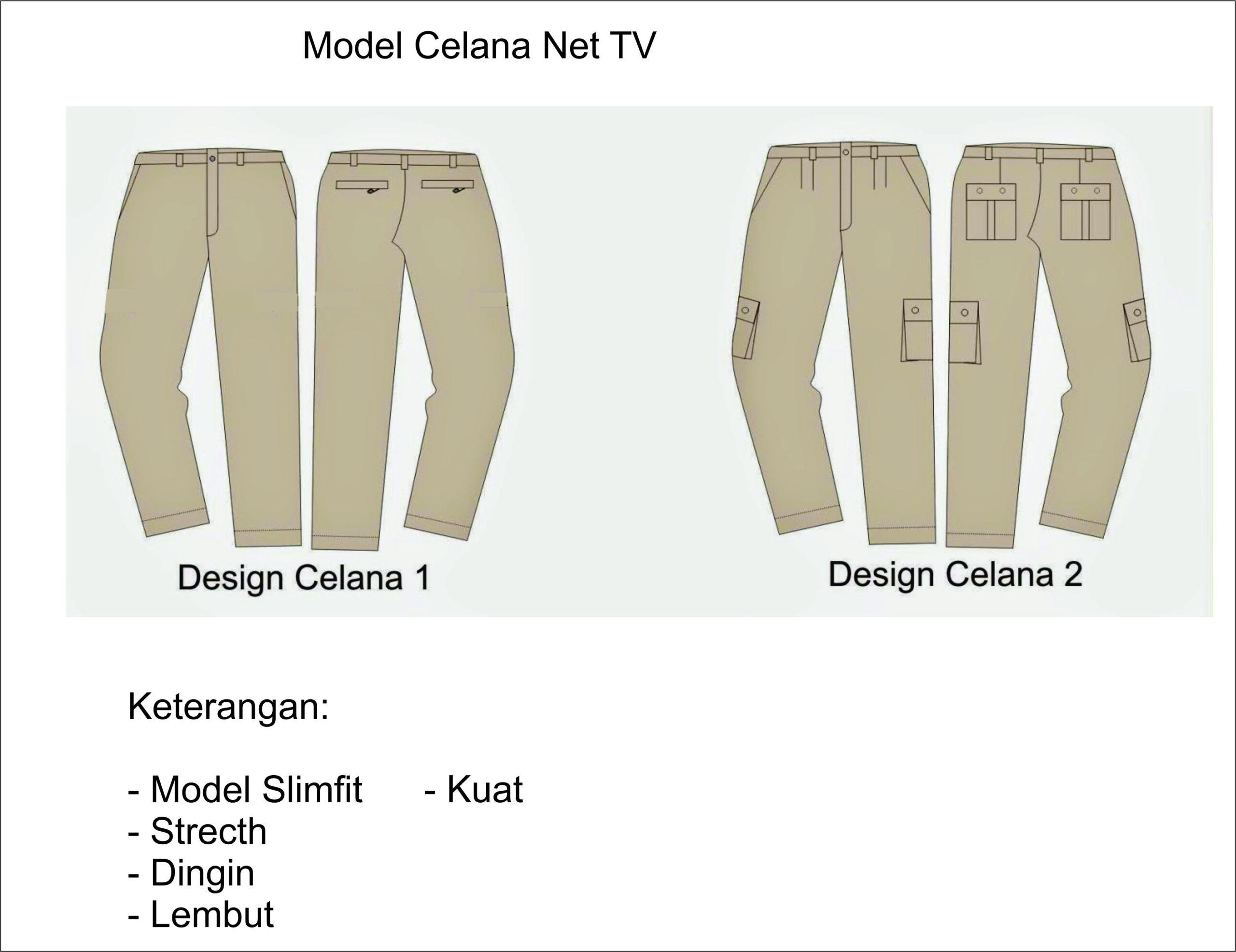 Celana NET TV inovator seragam